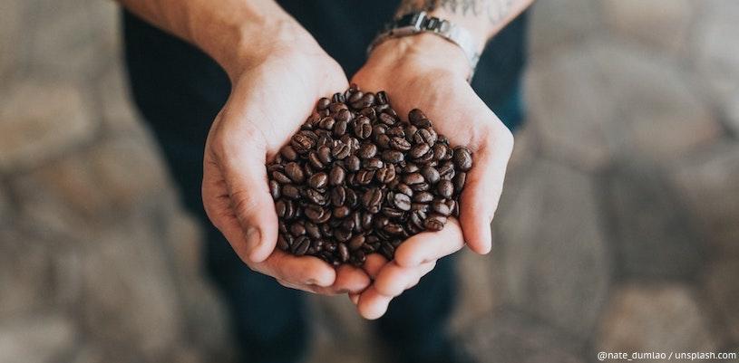 кофе в ладонях