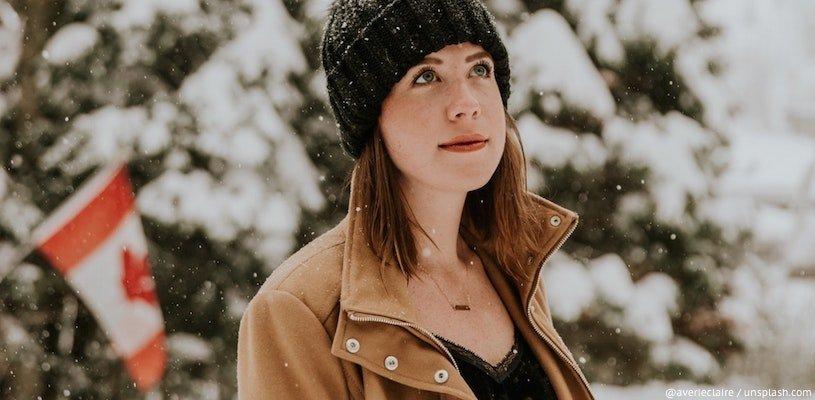 канадка в снегу