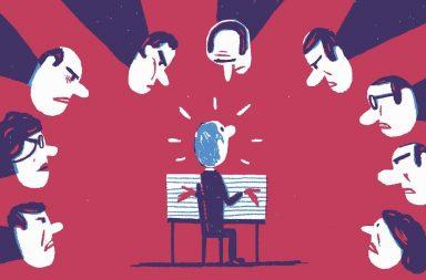 карикатура человека на собеседовании