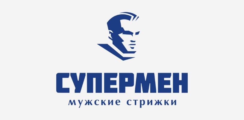 лого парикмахерской супермен